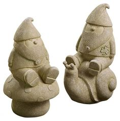 Garden Gnome 2Pc Set