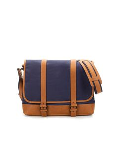 MESSENGER BAG WITH COLOURED STRAPS