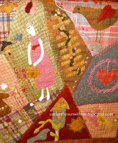 wool crazy quilt