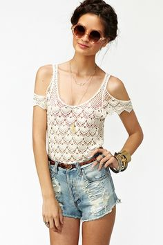 Crochet Away Top. LOVE everything about this top. Perfect for summer.