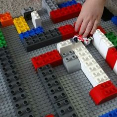 LEGO� Car Maze and other ideas for stuff to do with Legos, besides the typical building activities