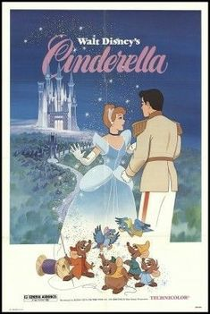 Cinderella Movie Poster ( of Disney Vintage, Vintage Disney Posters, Retro Disney, Vintage Cartoons, Disney Movie Posters, Cartoon Posters, Vintage Movies, Disney Art, Walt Disney