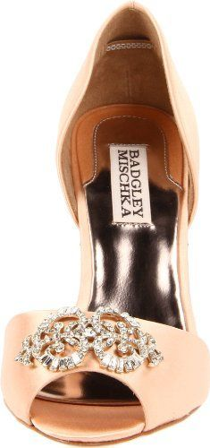 Badgley Mischka Peach Wedding Shoes Just Sayin If I Were To Wear Heals
