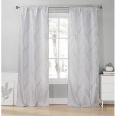 Heighten the drama of your elegant living room by adding these Forte Nature/Floral Room Darkening Thermal Rod Pocket Panel Pair to your windows. Their blackout features include noise reduction, room darkening Sheer Curtain Panels, Printed Curtains, Rod Pocket Curtains, Grommet Curtains, Window Panels, Drapes Curtains, Drapery, Grey Windows, Floral Room