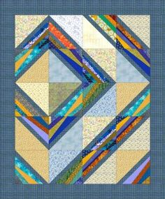 Cool string quilt idea. Not wild about the colors, but love this approach.
