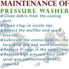 Washer Size Chart The Post Which Pressure Washer Nozzle