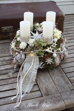 Adventskranz - :::: Adventskranz beleuchtet :::: - ein Designerstück von BlumereiBerger bei DaWanda