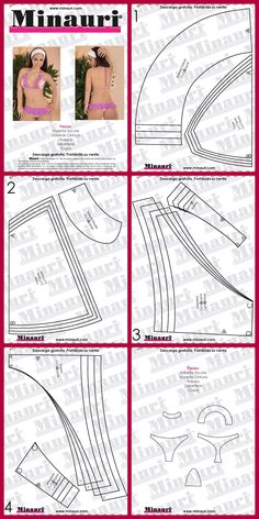 Lingerie Patterns, Sewing Lingerie, Clothing Patterns, Pattern Cutting, Pattern Making, Sewing Hacks, Sewing Projects, Diy Bra, Sewing Patterns Free