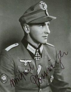 ✠ Michael Pössinger (January 18th, 1919 - May 23rd, 2003) RK 19.07.1940 Leutnant d.R. Zugführer i. d. 16./Geb.Jäg.Rgt 98 1. Gebirgs – Division 28.02.1945 [759. EL] Major Kdr I./Gren.Rgt 1123 558. Volks-Grenadier-Division NKiG: 00.05.1945, Major, Kdr. Gren.Rgt. 1123 558. Volks-Grenadier-Division