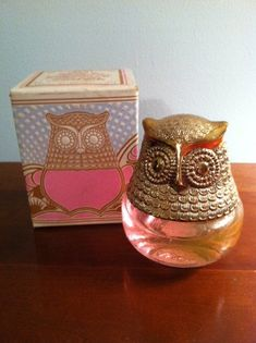 Avon Vintage Decanter Owl Fancy 3/4 Full and in Box by Mikah6, $10.00