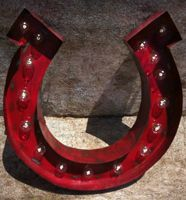$130.00 	Lit Horseshoe In Red, Turquoise, Pink, Lime, Orange, Black, White	 24''    (A10013)