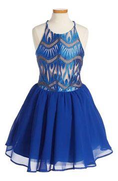 Miss Behave Margaret Fit & Flare Dress (Big Girls)