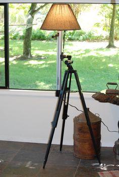 Telescope Tripod Lamp by CatkinsCreations on Etsy, $137.00
