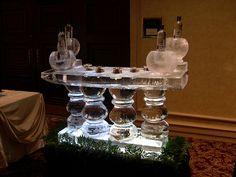 Caviar and Vodka Table ice sculpture by Art Below Zero, via Flickr