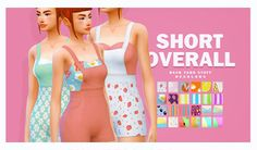 • Requires Backyard Stuff. • 28 Recolors. • don't re-upload!!! • don't pay sites / URL Shortener !!! D o w n l o a d - Mediafire Version 2 - JenniSims Shorts Overall - Recolors MESH ( is NOT included ) • Base Game compatible ! • 28 Recolors. • don't...