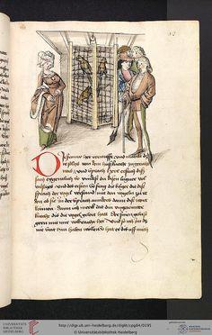 Cod. Pal. germ. 84: Antonius von Pforr: Buch der Beispiele ; Passionsgebet (Schwaben , um 1475/1482), Fol 93r