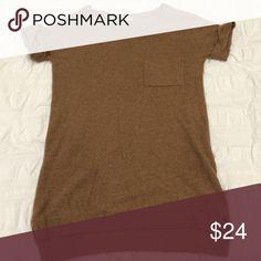 Madewell Brown/Dark Tan Sweater Tunic Top Reposhing! Madewell Sweaters Crew & Scoop Necks