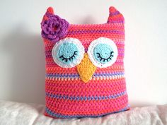 Alice Owl Doorstop Or Pillow By Andrea - Free Crochet Pattern - (meme-rose.blogspot)