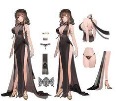 Liduke(日 子) on in 2019 服 裝 anime art, character design, fema Fantasy Character Design, Character Design Inspiration, Character Art, Female Character Concept, Fan Art Anime, Anime Art Girl, Persona Design, Manga Japan, Look Girl