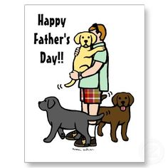 Labrador Daddy Cartoon