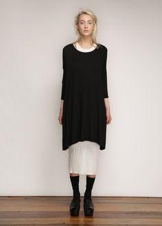 Raquel Allegra Bell Tee Dress (Black)