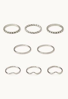 Stackable Midi Ring Set | FOREVER21 - 1000063511