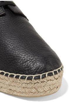 Vince - Cynthia Textured-leather Platform Espadrilles - Black - US10