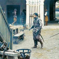 The Musketeers - Nice catch Porthos. I wonder how many takes it took for Howie to get it right, or if he got it first try...