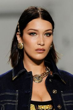 Bella Hadid for Gianni Versace 2017 Tribute Runway Show by Donetella Versace