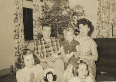 My Grandparents, Mom, and Aunts, Christmas 1958.
