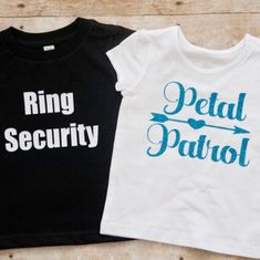 Ring bearer & flower girl shirts!