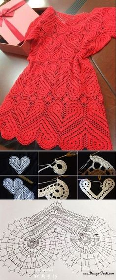 Crochet Heart Dress Tutorial