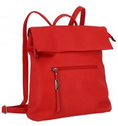 Lichtblau Rucksack Galini Red rot Lederimitat Überschlag - Bags & more Backpacks, Fashion, Red, Blue, Artificial Leather, Silver, Moda, Fashion Styles, Backpack