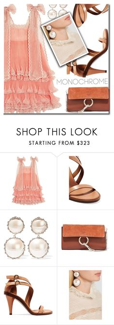 """Monochrome Pink"" by shoaleh-nia ❤ liked on Polyvore featuring Chloé and Rosantica"