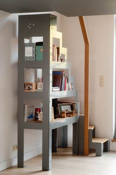 65 Clever Loft Stair Design for Tiny House Ideas - Treppe - Escadas Open Staircase, Staircase Design, Stair Design, Tiny House Stairs, Loft Stairs, Design Your Home, Tiny House Design, House Ideas, Mezzanine Loft