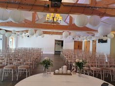 We fitted these hanging lanterns and what a finish to the ceremony decor. Ceremony Decorations, Table Decorations, Hanging Lanterns, Wedding Events, Chair, Furniture, Home Decor, Recliner, Homemade Home Decor