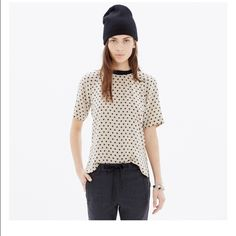 Madewell Silk Front Row Tee in Dot Used maybe 2x. Excellent condition. 16  inches c20a623e9d8e