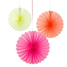 Pastel Paper Fan Decorations come in orange, yellow, and pink. Add these cute decorations to other pink party supplies for a spring fling, a baby shower, or a birthday party! Pastel Paper, Pink Paper, Flamingo Party, Paper Fan Decorations, Rose Fuchsia, Pastel Decor, Troll Party, Paper Fans, Party Napkins