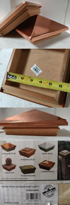 Post Caps 180989: 6X6 (2 Or 3 Pack) Deck Post Caps Cedar Whistler Peak Copper Ce9903200w -> BUY IT NOW ONLY: $37.5 on eBay!