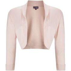 Phase Eight Shawl collar bolero (295 RON) ❤ liked on Polyvore featuring outerwear, jackets, clearance, pastel pink, cardigan shrug, shawl collar jacket, bolero shrug jacket, shrug bolero and evening bolero