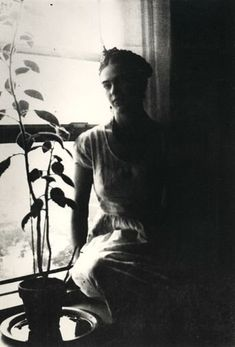 Frida by the Window by Lucienne Bloch, 1932 Detroit, Michigan.