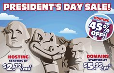 HOSTGATOR 2014 DISCOUNT OF 45% ON PRESIDENT DAY  IF you want domain and webhosting at cheap rate than grab this hostgator 45% off now.  http://www.mytechnoways.com/2014/02/hostgator-president-day-discount-of-45.html