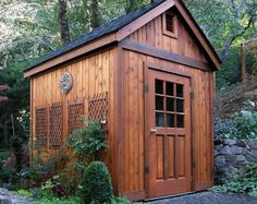 Wow! A Stand Out In The Woods. Beautiful Shed With Craftsman Appeal!