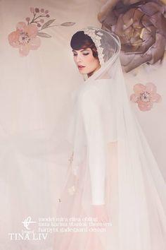 the Hazel cap veil by Gadegaard Design - photocredit: www.tinaliv.com - model: Mira Obling - MUA: Karina Staniok Thomsen