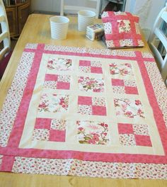 Blossom Quilt Pattern by Raggy Robin Ideal for a Starter / Beginner (Digital PDF) – Famous Last Words Quilting Beads Patterns Quilt Baby, Lap Quilts, Baby Girl Quilts, Girls Quilts, Quilts For Babies, Wool Quilts, Cotton Quilts, Quilting Projects, Quilting Designs