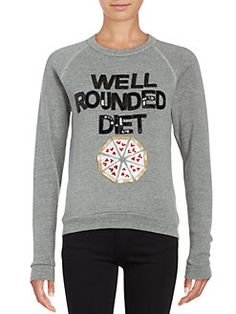 Bow And Drape - Sequined Pizza Pullover