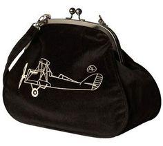 Gadżety lotnicze.  Airplane black bag