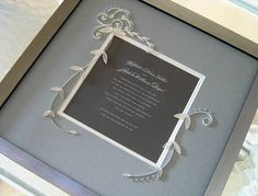 Quilled Wedding Invitation by all things paper, via Flickr