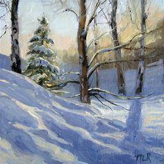 "Daily Paintworks - ""Seasons Greeting"" - Original Fine Art for Sale - © Nancy Romanovsky"