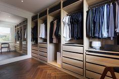 The two bedroom Bellevue Hill apartment of Sydney interior design practice TomMarkHenry's Chloe Matters Mirrored Wardrobe, Walk In Wardrobe, Wardrobe Design, Two Bedroom Apartments, Apartments For Sale, Dream Home Design, House Design, Loft Design, Walk In Closet Inspiration